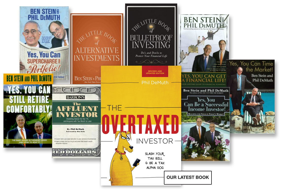 Front page with book covers